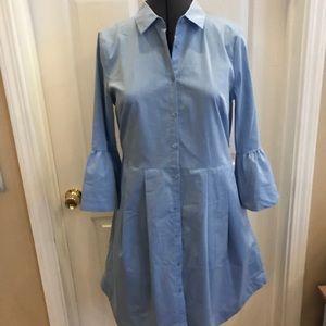Worthington blue bell sleeve shirtdress sz 4